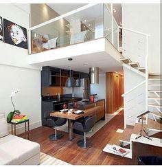 Loft com decoração clean e detalhes que fizeram a diferença nesse ambiente. Lindo 👆🏡😍
