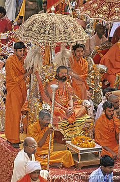 India Kumbh Mela, a mass Hindu pilgrimage of faith in which Hindus gather to bathe in a sacred river