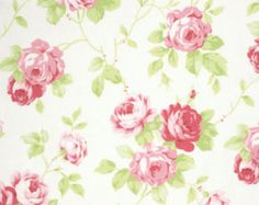 Tanya Whelan Fabric Slipper Roses in Pink One Yard  Designer: Tanya Whelan Line: Slipper Roses Fabric: Country Item #: PWTW085.Pink Yardage: 1 Yard, 43/44 wide Fabric: 100% cotton Color: Pink  Find More Tanya Whelan Fabric Selections Here: http://www.etsy.com/shop/chitchatdesignsllc?section_id=11429672