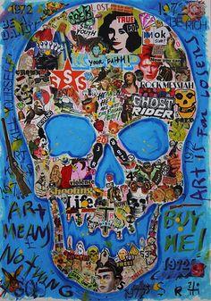 Skull Art Skull Decor, Skull Art, Crane, Candy Skulls, Sugar Skulls, Totenkopf Tattoos, Skull And Crossbones, Skull And Bones, Memento Mori