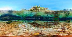Foto panorâmica de rio de MS entra para Guinness como maior sob água