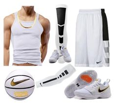 """Devaughn Basketball"" by k4200mazikapo on Polyvore featuring NIKE, men's fashion and menswear"