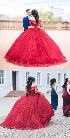 Modest Quinceanera Dress,Red Ball Gown Wedding Dresses,Fashion Prom Dress,Sexy Party Dress,Custom Made Evening Dress,Wedding Dresses,GYU34