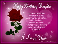 Daughters Birthday Wishes From Mom   Birthday Wishes for Daughter Holiday Messages, Greetings and Wishes