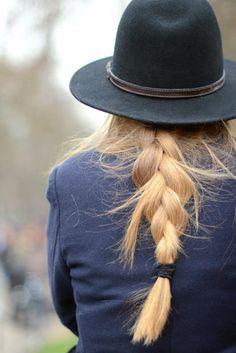 felt hat + braid