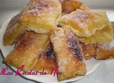 Teresitas de crema Sweet Recipes, Cake Recipes, Aesthetic Food, Desert Recipes, Sin Gluten, Finger Foods, Sweet Tooth, Sweet Treats, Bakery