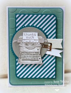 White House Stamping: Stampin' Up! Tap Tap Thanks. Stampin Up, Circle Punch, Tap Tap, Scrapbook Embellishments, Practical Gifts, Masculine Cards, Close To My Heart, Paper Cards, Making Ideas