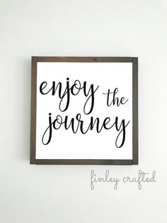 Items similar to enjoy the journey farmhouse wooden sign inspirational quote wood sign on Etsy Excited to share the latest addition to my shop: enjoy the journey farmhouse wooden sign inspirational quote wood sign The Journey, Diy Signs, Home Signs, Wooden Crafts, Wooden Diy, Diy Crafts, Painted Wooden Signs, Encouragement, Inspirational Signs