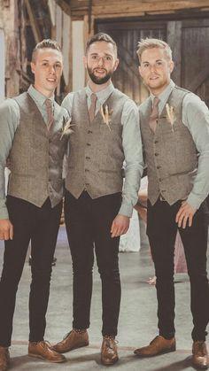 Mens wedding attire rose gold tie