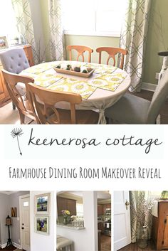 It's reveal time, yet again! Today, it's the farmhouse dining room - a cozy, sunny space - great for entertaining family and friends.