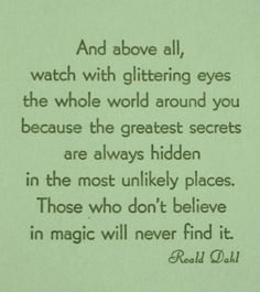 Who read Roald Dahl growing up - which book is this from?