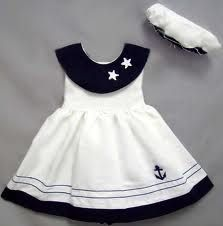 Baby Sailor Girl Nautical Navy Dress Set Sizes S M or L : cute sailor dress Cute Baby Clothes, Doll Clothes, Baby Girl Fashion, Kids Fashion, Little Girl Dresses, Girls Dresses, 50s Dresses, Elegant Dresses, Sailor Dress