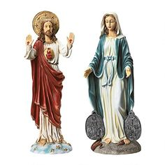 Design Toscano Italian Style Devotional Art Jesus and Mary Sculptures -- Click the VISIT button for detailed description