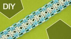 macrame bracelet tutorial - YouTube