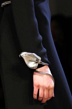 Detail at Yves Saint Laurent Fall 2012 #wristwear