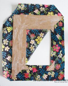 How to make a fabric covered photo frame