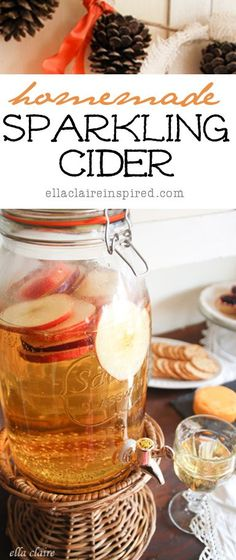 {Ella Claire}: Sparkling Cider Recipe, Fall Party Food Vignette, and Autumn Abounds Milk Shakes, Fun Drinks, Yummy Drinks, Beverages, Fall Harvest Party, Autumn Harvest, Fall Birthday Parties, Brunch, Baby Shower Fall