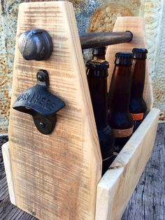 Rustic Reclaimed Beer Beverage Box