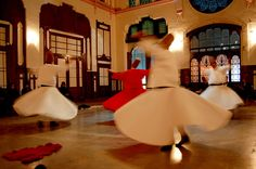 Continuing to Whirl | by Curious Expeditions.  At a Whirling Dervishes concert in the Oriental Express railway station, in Istanbul, Turkey.