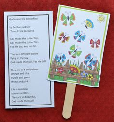 Bible Fun For Kids: God Makes the Butterflies for Preschool
