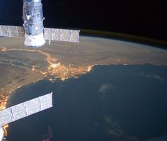 Alexandria, Egypt, as seen from the International Space Station