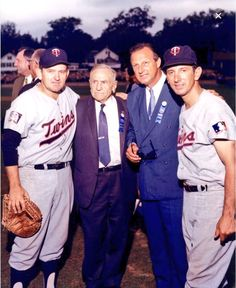 Stengel, Musial, Billy Martin at a HOF game.