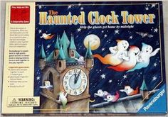 The Haunted Clock Tower - complete game with ghost cards. Great way to celebrate Halloween.