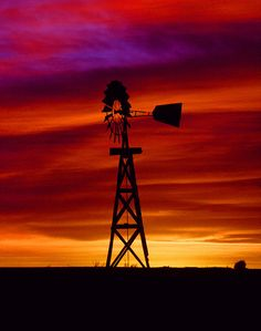 sunset in the Texas panhandle