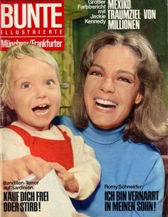 Magazine photos featuring Romy Schneider on the cover. Romy Schneider magazine cover photos, back issues and newstand editions. Romy Schneider, List Of Magazines, Le Talent, French Actress, Bunt, Actresses, Cover, David, 70s Fashion