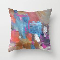 Juana de Arco Throw Pillow.  I'd put a sheer fabric over painted canvas :)