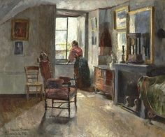 """Pinseaften"", Harriet Backer"