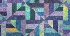 This one of the cooler patterns we've seen recently and we wanted to share it with you! Check out this Cool Water quilt!