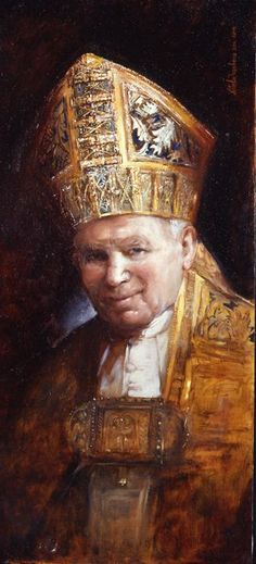 Soon to be Saint - our beloved Holy Father Blessed Pope John Paul II. Canonized to Saint April 27, 2014.