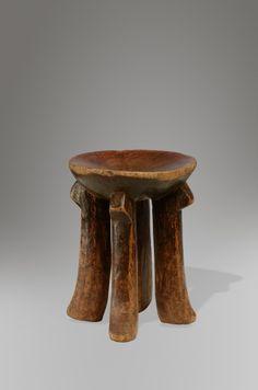 Kikuyu stool Stephane Brosset Collection Wooden dreams  Origin: Kenya Material: Wood Height: 34cm