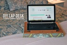 Do you use your laptop or tablet on the couch or in bed? Does your hand cramp holding it, or does it overheat? Solve the problem with this DIY Lap Desk!