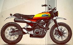 Holographic Hammer Shaped up the #KTM #Duke390 into a SCRAMBLER