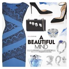 """""""Blue Dream"""" by paycustom-fashion ❤ liked on Polyvore featuring Jimmy Choo, STELLA McCARTNEY, NARS Cosmetics, Thierry Mugler, polyvoreeditorial, polyvorefashion and polyvoreset"""