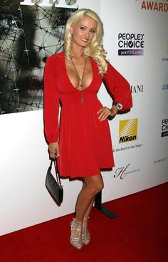 Holly Madison.. low neck + low back + red..... - Celebrity Fashion Trends