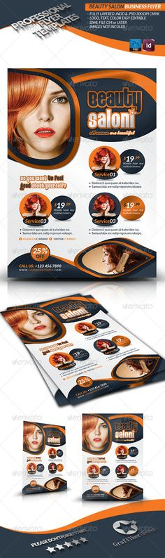 Spa \ Beauty Saloon Flyer Volume 3 Models, Photographs and Wells - hair salon flyer template