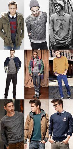 Men's Sweatshirt Lookbook....going sweatshirt shopping at goodwill tomorrow