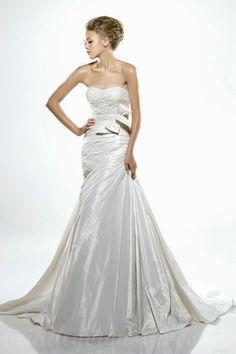 Satin Ruffles Lace Bow Tie Waist Fabulous Bodice Inspires Wedding Dresses
