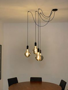 living room Pendant ceiling lamp with Alien Smoky Lamp composition for exclusive dining room from Cr Dining Table Lighting, Dining Room Light Fixtures, Kitchen Lighting Fixtures, Room Lights, Ceiling Lights, Hanging Lights, Luminaire Original, Industrial Office Design, Swag Light