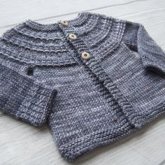 the online pattern store Baby Sweater Knitting Pattern, Baby Knitting Patterns, Baby Patterns, Cardigan Pattern, Knitting For Kids, Free Knitting, Crochet Baby, Knit Crochet, Knit In The Round