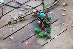 Hey, I found this really awesome Etsy listing at https://www.etsy.com/listing/521670646/chrysocolla-necklacetree-of-life-macrame