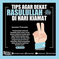 Tips agar dekat dengan Rasulullah pada hari kiamat. Hijrah Islam, Doa Islam, Hadith Quotes, Muslim Quotes, Reminder Quotes, Self Reminder, Quran Quotes Inspirational, Religion Quotes, Islamic Quotes Wallpaper