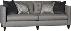 So excited to have this in our showroom! Luxurious fabrics and a great frame! Mayo Furniture 1333F Fabric Sofa - Archery Steel