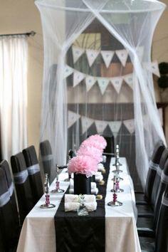 Spa theme birthday party decor