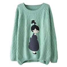 Partiss Womens Doll Pattern Loose Pullover S, Green Partiss http://www.amazon.com/dp/B00UWMBKSW/ref=cm_sw_r_pi_dp_-.kfvb0YHGBND