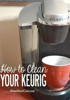 I love my Keurig but I hate cleaning it. These tips on cleaning my Keurig should help me nicely! Deep Cleaning Tips, House Cleaning Tips, Cleaning Solutions, Spring Cleaning, Cleaning Hacks, Cleaning Products, Cleaning Recipes, All You Need Is, Just In Case