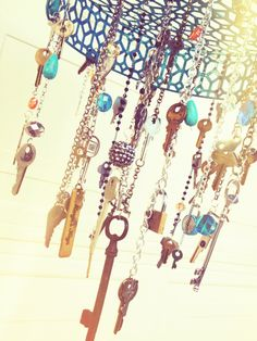 Key wind chime made from old keys we found when we were going through my grandmother's things.
